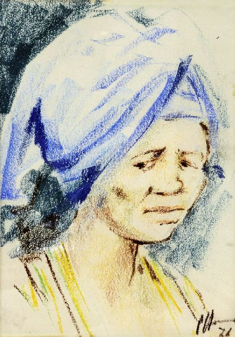 ladywithheadscarft1966pastel